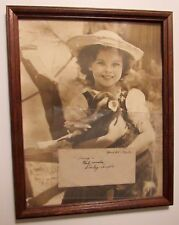 """SHIRLEY TEMPLE AUTHENTIC ORIGINAL 11"""" X 14"""" PHOTO w/ SHIRLEY'S SIGNATURE & FRAME"""