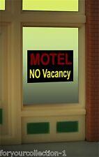 Motel No Vacancy Animated Neon Window Sign #8975O/O27 HO scale MILLER ENGINEERIN