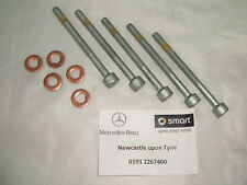 Genuine Mercedes-Benz Diesel Injector Bolts & Copper Washers (Set of 5) NEW