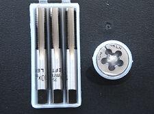 Grifos de mano izquierda Métrico + Die Set M10 X 0.75 Enchufe Forma Cónica Segundo