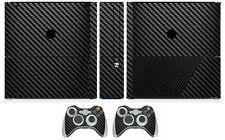 Black Carbon Fiber Vinyl Skin Sticker for Xbox360 Slim E and 2 controller skins