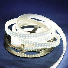 Double Row 3528 Cool White LED Strip 5M 1200 240leds/M Light Tube Waterproof 12V