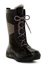 NWT UGG Mixon Waterproof Leather Boots Women's Size 5 Medium Black - runs small