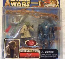 Vintage STAR WARS Attack Clones YODA Action Figure STAR DESTROYER Keychain LOT
