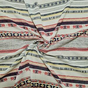 "Ethnic Printed Viscose Fabric 55"" Wide Sold By The Metre"