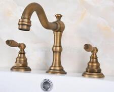 Bathroom Basin Sink Faucet 2 Knob Widespread Vanity Mixer Tap Antique Bronze