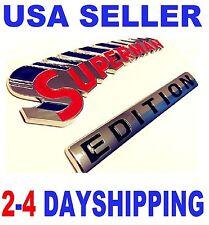 SUPERMAN EDITION EMBLEM 3D Car MAZDA SUBARU Logo Decal SUV SIGN Ornament BADGE