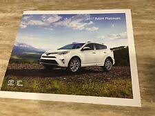 2017 Toyota RAV4 PLATINUM 4-page Original Sales Brochure
