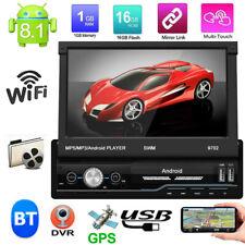 Android 8.1 Single 1DIN 7 inch Car Stereo GPS Navi FM Radio WIFI BT MP5 Player