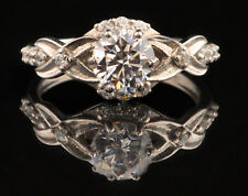 D/VVS1 Real 14KT White Gold 2.50Ct Gorgeous Round Shape Women's Anniversary Ring