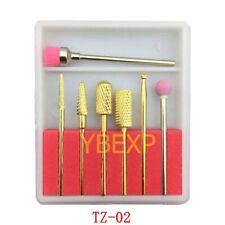 7x Cerámica Diamante Brocas De Uñas conjunto de archivos para máquina eléctrica de manicura