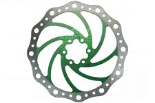 203mm / 8 Inch Vibe Disc Brake Rotor 6 Bolt Stainless Steel 8 Colour Choices Green