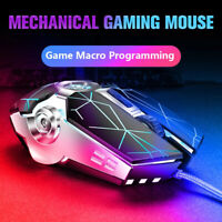 RGB LED USB Wired Gaming Mouse Silent Optical Mice For PC Laptop Computer Gamer