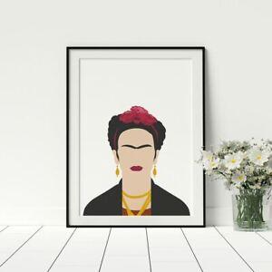 Frida Kahlo Shilouette Print, Inspirational Women, Female Empowerment, Frida Art