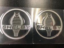 Polished Chrome COBRA SNAKE SHELBY Logo Car Emblem Sticker Decal Large BF Sale