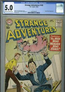 Strange Adventures #109- October, 1959 - CGC 5.0 - (Kane, Infantino art)