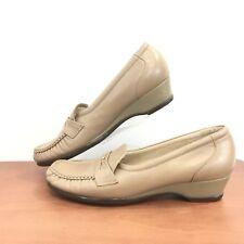 SAS Size 9 Slim Tripad Comfort Foot Bed Leather Shoes Slip On Womens 9 S (AAA)