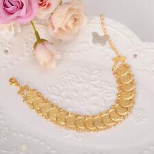 Bracelet 24K Gold GF Islamic Muslim Arab Coin Bracelet Middle Eastern Jewelry