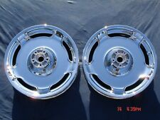 Harley Davidson Chrome 5 Spoke Wheels Fatboy Heritage Deluxe 90-07 Outright Sale