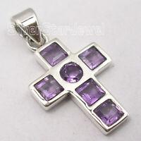 Wholesale Jewelry Amethyst 2.9 TCW Pendant 2.8 Grams 925 Sterling Silver