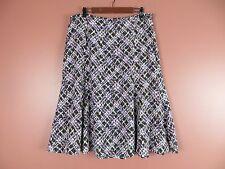 3014c7a2fc1 SK07531- TALBOTS Woman 100% Silk Flared Full Skirt Multi-Color Geo Plus Sz
