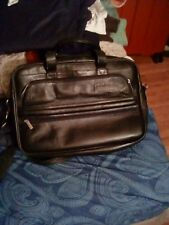leather man purse,laptop carrier,W J lll embossed on leather