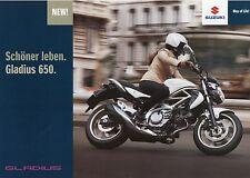 SUZUKI GLADIUS 650 prospetto 1/09 2009 MOTO prospetto opuscolo brochure MOTO