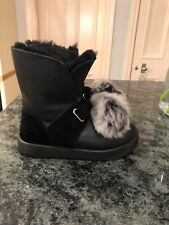 Ugg Isley Winter Snow boots Uk 5.5 black leather arctic tread waterproof