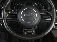 Carbon fiber steering wheel decoration decal for Audi Sline s line A1 A3 A4 A5 A