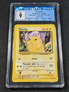 Pokemon TCG - CGC 9 - Pikachu - 4th Print Base Set 58/102