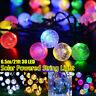 30 LED Solar Powered Garden Party Fairy String Crystal Ball s Outdoor
