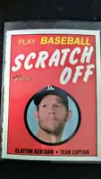 2019 Topps Heritage Play Scratch Off Card Clayton Kershaw New #10 Ships PWE