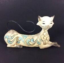 Jim Shore Heartwood Creek Maya Lying Siamese Cat Figurine Blue White 2013 Enesco