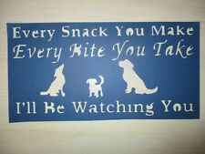 Primitive Every Bite You Take I'Ll Be Watching You Dog cardstock Stencil vintage