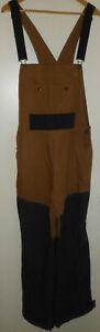CABELAS Duck Canvas Bib Overalls Hunting Men's Medium Regular Size 2 Tone Tan