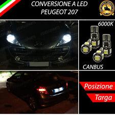 LUCI POSIZIONE A LED + LUCI TARGA A LED CANBUS PEUGEOT 207 NO ERROR