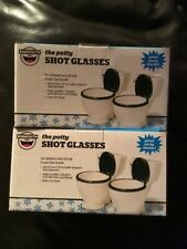 BigMouth Inc Set of 4 Ceramic Shot Glasses The Potty  1.5oz  Toilet NEW IN BOX