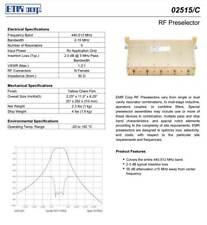 Emr Corp Rf Preselector 440 512 Mhz 02515c