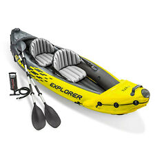NEW Intex Explorer K2 Kayak 2-Person Inflatable Set w Oars & Pump | SHIPS FAST