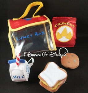 Build-A-Bear LUNCH BOX SET: MILK, SANDWICH, CHIPS, COOKIE Teddy Food Accessories
