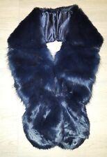 Sciarpa Pelliccia Collo Stola Ecologica donna blu cobalto 90ee424fadb