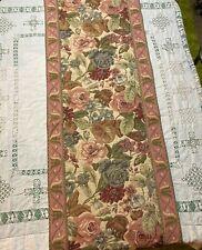 "TAPISSERIE TAPESTRY Renaissance by WOVEN ART Table Runner 71"" x 18"" Roses Floral"