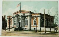 Kankakee Illinois Post Office 1907 to Forest Park Postcard I4