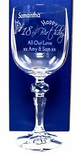 (GD) Engraved BIRTHDAY BUTTERFLY Mirelle Wine Glass Gift For Mum/Nan/Nanny/Gran