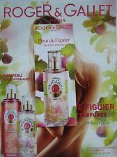 page de publicité PARFUM ROGER & GALLET avec marque page parfumé 2015 ref. 42379