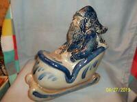 Rowe Pottery Santa & Sleigh 25th Anniversary Salt Glazed 2012