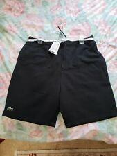 Lacoste Mens Sport Novak Djokovic Technical Pique Shorts size M-5. Black.