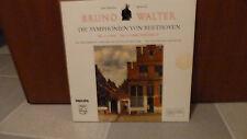 BEETHOVEN, SYMPHONIE Nº 1 & Nº 6 PASTORALE, B. Walter, LP, Classique PHILIPS VG +