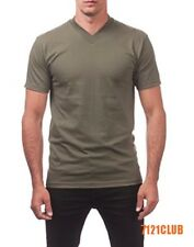 PRO CLUB V NECK T SHIRTS MENS CAMO PLAIN SHIRT PROCLUB SHORT SLEEVE BIG AND TALL
