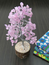 Rose Quartz Stone Tree Spiritual Vastu Feng Shui Reiki Gemstones Table Decor
